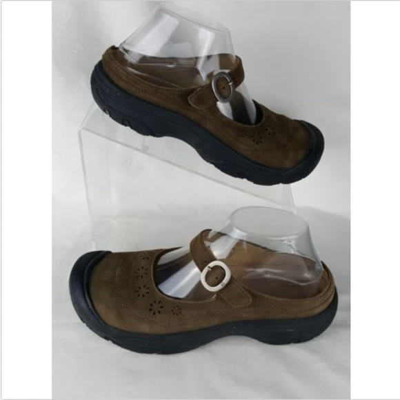 Keen Shoes - Keen Size 8 Mary Jane Flats Clogs Brown Leather